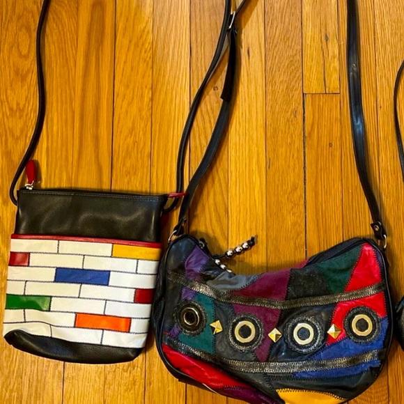 Vintage Multi Color Crossbody Set